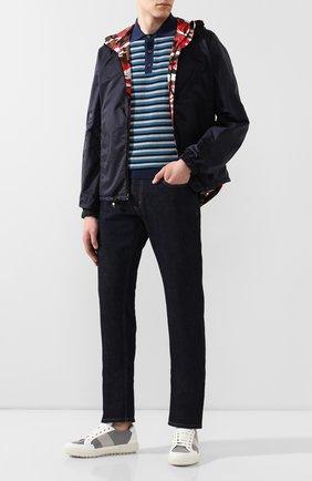 Мужские джинсы PRADA синего цвета, арт. GEP178-1P8Q-F0008-192 | Фото 2