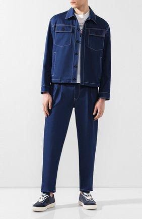 Мужские джинсы PRADA синего цвета, арт. GEP309-1VMN-F0E93-201 | Фото 2