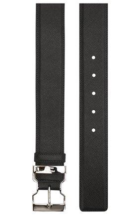 Мужской кожаный ремень PRADA черного цвета, арт. 2CM185-53-F0002 | Фото 2