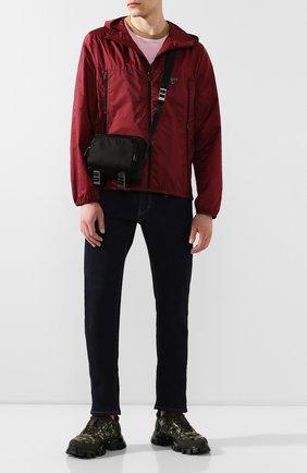 Мужская текстильная сумка PRADA черного цвета, арт. 2VH043-973-F0002-OOO | Фото 2
