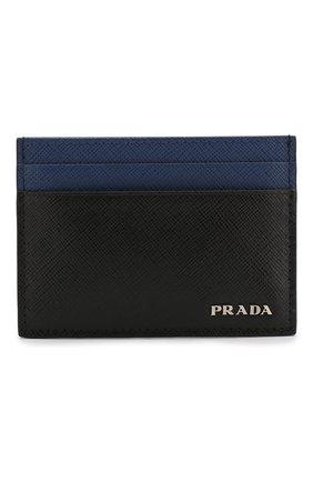 Мужской кожаный футляр для кредитных карт PRADA черного цвета, арт. 2MC149-C5S-F011E | Фото 1