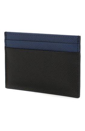 Мужской кожаный футляр для кредитных карт PRADA черного цвета, арт. 2MC149-C5S-F011E | Фото 2