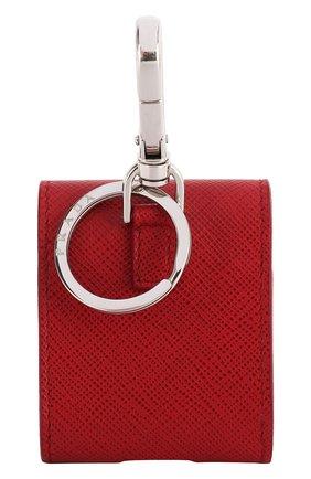 Мужской кожаный чехол для airpods PRADA красного цвета, арт. 2TT106-2AHF-F068Z | Фото 2