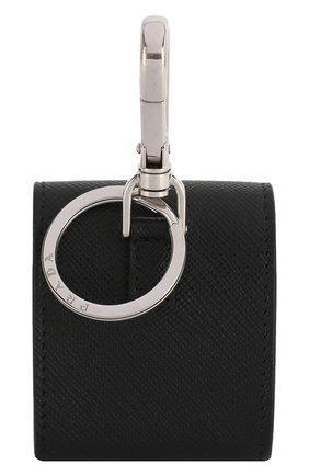 Мужской кожаный чехол для airpods PRADA черного цвета, арт. 2TT106-2AHF-F0002 | Фото 2