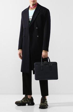 Мужская кожаная сумка для ноутбука PRADA синего цвета, арт. 2VE366-2FAD-F0216-OOX | Фото 2