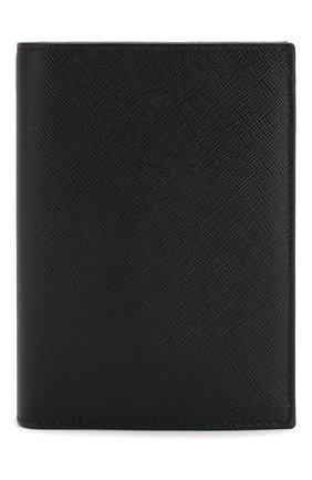 Мужская кожаная обложка для паспорта PRADA черного цвета, арт. 2MV011-53-F0002 | Фото 1