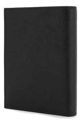 Мужская кожаная обложка для паспорта PRADA черного цвета, арт. 2MV011-53-F0002 | Фото 2