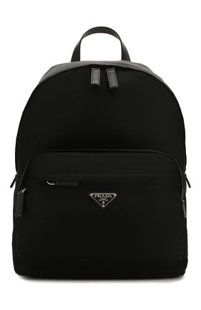 Мужской текстильный рюкзак PRADA черного цвета, арт. 2VZ066-973-F0002-HOL | Фото 1