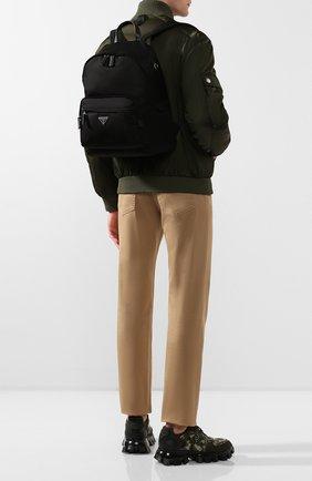 Мужской текстильный рюкзак PRADA черного цвета, арт. 2VZ066-973-F0002-HOL | Фото 2