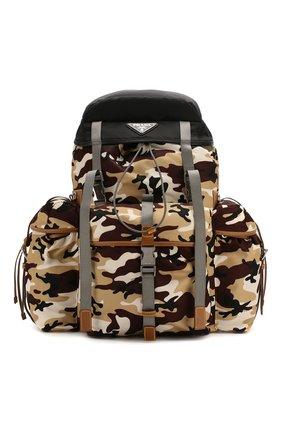 Мужской текстильный рюкзак PRADA разноцветного цвета, арт. 2VZ073-2D66-F0844-OOO | Фото 1