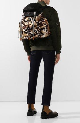 Мужской текстильный рюкзак PRADA разноцветного цвета, арт. 2VZ073-2D66-F0844-OOO | Фото 2