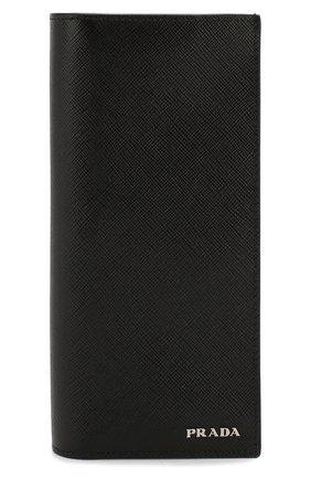 Мужской кожаный футляр для документов PRADA черного цвета, арт. 2MV836-C5S-F011E   Фото 1