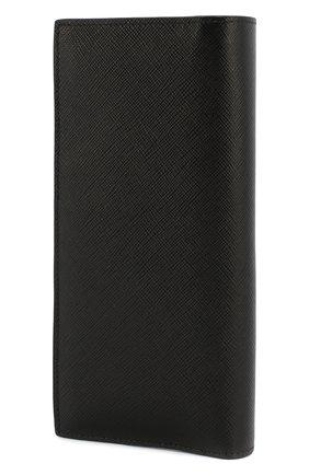 Мужской кожаный футляр для документов PRADA черного цвета, арт. 2MV836-C5S-F011E | Фото 2