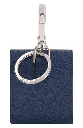 Мужской кожаный чехол для airpods PRADA синего цвета, арт. 2TT106-2AHF-F0016 | Фото 2