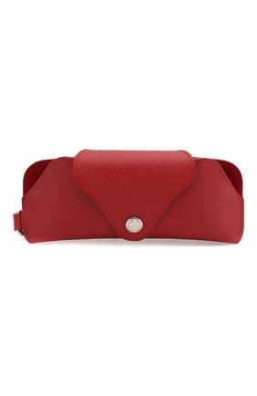 Мужская кожаный футляр для очков PRADA красного цвета, арт. 2RA002-53-F068Z | Фото 1
