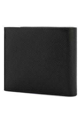 Мужской кожаное портмоне PRADA черного цвета, арт. 2MO738-53-F0002 | Фото 2