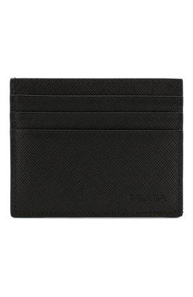 Мужской кожаный футляр для кредитных карт PRADA черного цвета, арт. 2MC223-53-F0002 | Фото 1