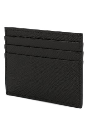 Мужской кожаный футляр для кредитных карт PRADA черного цвета, арт. 2MC223-53-F0002 | Фото 2