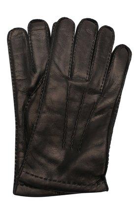 Мужские кожаные перчатки PRADA черного цвета, арт. 2GG005-38-F0002 | Фото 1