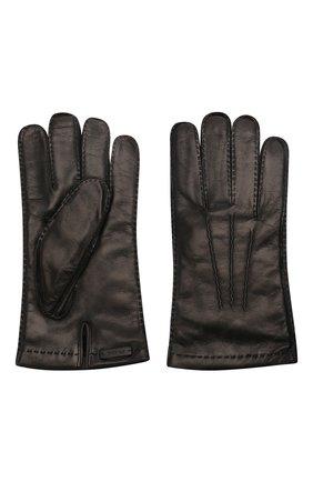 Мужские кожаные перчатки PRADA черного цвета, арт. 2GG005-38-F0002 | Фото 2