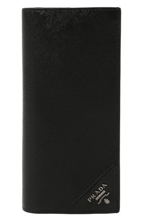 Мужской кожаный футляр для документов PRADA черного цвета, арт. 2MV836-QME-F0002 | Фото 1