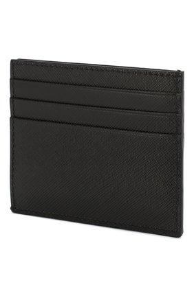 Мужской кожаный футляр для кредитных карт PRADA черного цвета, арт. 2MC223-QME-F0002 | Фото 2