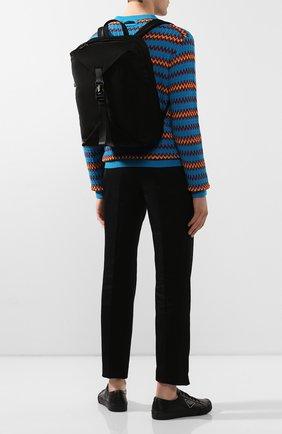 Мужской текстильный рюкзак PRADA черного цвета, арт. 2VZ028-973-F0002-OOO | Фото 2