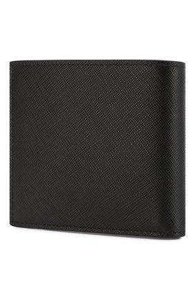 Мужской кожаное портмоне PRADA черного цвета, арт. 2MO513-ZLP-F0ME5   Фото 2