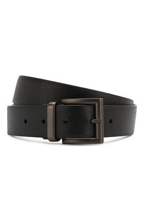 Мужской кожаный ремень PRADA черного цвета, арт. 2CC004-2FAD-F0RD7 | Фото 1