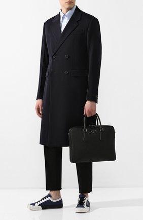 Мужская кожаная сумка для ноутбука PRADA черного цвета, арт. 2VE011-9Z2-F0002-OOO | Фото 2