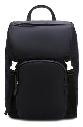 Мужской текстильный рюкзак PRADA синего цвета, арт. 2VZ135-973-F0008-HOY | Фото 1