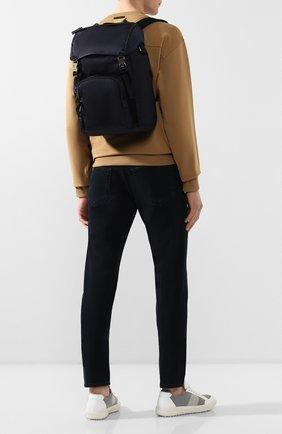 Мужской текстильный рюкзак PRADA синего цвета, арт. 2VZ135-973-F0008-HOY | Фото 2