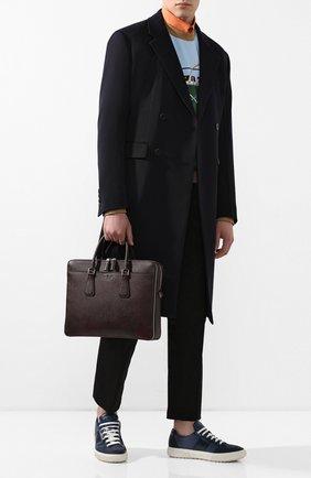 Мужская кожаная сумка для ноутбука PRADA коричневого цвета, арт. 2VE366-2FAD-F0201-OOX | Фото 2