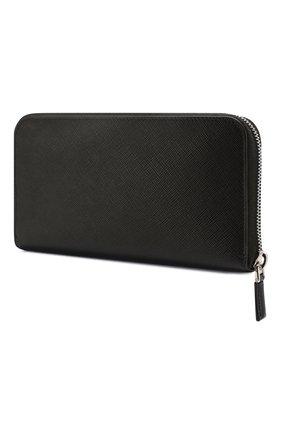 Мужская кожаный футляр для документов PRADA черного цвета, арт. 2ML032-2B8U-F0002 | Фото 2