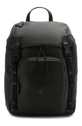 Мужской кожаный рюкзак PRADA черного цвета, арт. 2VZ135-2BYA-F0002-HLY | Фото 1