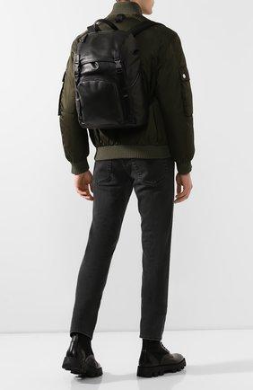 Мужской кожаный рюкзак PRADA черного цвета, арт. 2VZ135-2BYA-F0002-HLY | Фото 2