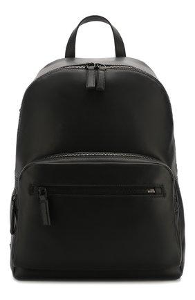 Мужской кожаный рюкзак PRADA черного цвета, арт. 2VZ066-2BYA-F0002-OLO | Фото 1