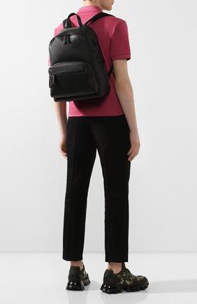 Мужской кожаный рюкзак PRADA черного цвета, арт. 2VZ066-2BYA-F0002-OLO | Фото 2