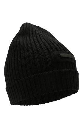 Мужская шерстяная шапка PRADA черного цвета, арт. UMD429-U97-F0002 | Фото 1
