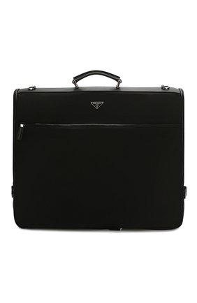 Мужская текстильная дорожная сумка PRADA черного цвета, арт. 2VM001-64-F0002-OOO | Фото 1