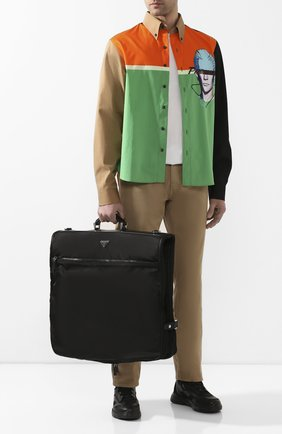 Мужская текстильная дорожная сумка PRADA черного цвета, арт. 2VM001-64-F0002-OOO | Фото 2