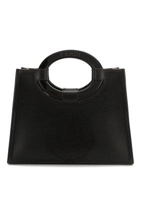Женская сумка runaway small FENDI черного цвета, арт. 8BH353 A8SL | Фото 1