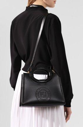 Женская сумка runaway small FENDI черного цвета, арт. 8BH353 A8SL | Фото 2