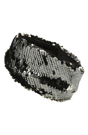 Женская повязка на голову EUGENIA KIM темно-серого цвета, арт. 25029-05120 | Фото 2
