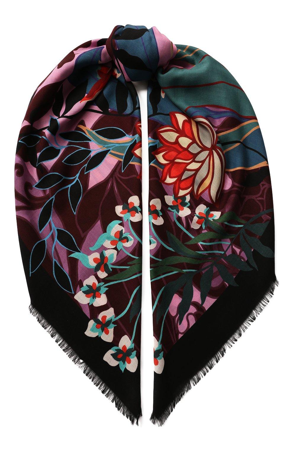 Женская шаль из смеси шерсти и шелка valentino garavani VALENTINO розового цвета, арт. TW0EB104/SRT | Фото 1