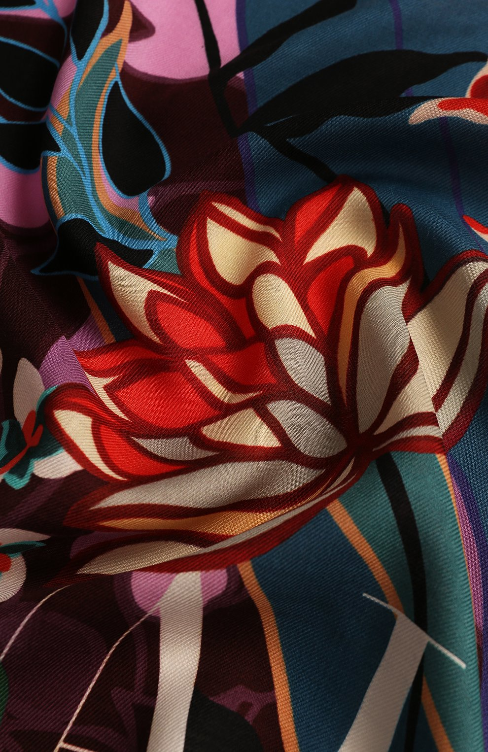 Женская шаль из смеси шерсти и шелка valentino garavani VALENTINO розового цвета, арт. TW0EB104/SRT | Фото 2