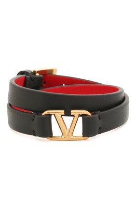 Женская кожаный браслет valentino garavani VALENTINO черного цвета, арт. TW0J0C31/ZXL | Фото 1
