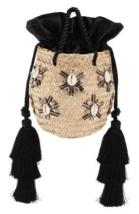 Женская сумка carol small LE NINE черного цвета, арт. S2-00030/BLACK/TUBE-TAS | Фото 1