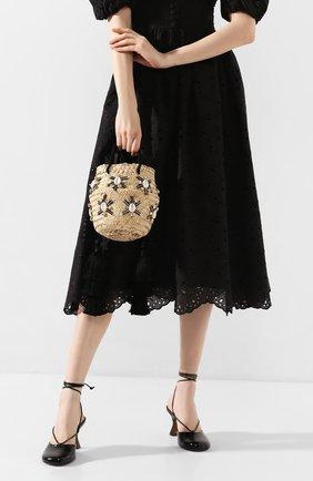 Женская сумка carol small LE NINE черного цвета, арт. S2-00030/BLACK/TUBE-TAS | Фото 2