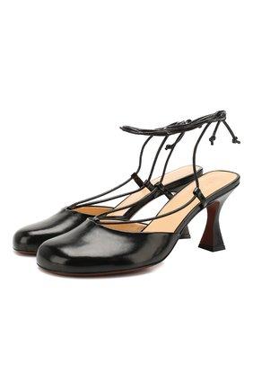 Женская кожаные туфли city 80 MANU ATELIER черного цвета, арт. 2019085 | Фото 1